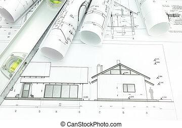 építészmérnök, alaprajzok