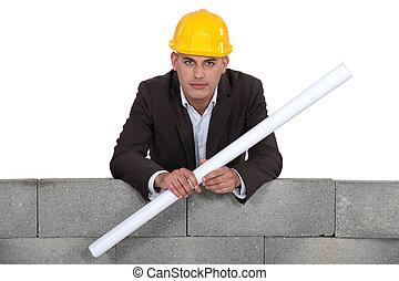 építészmérnök, noha, alaprajzok