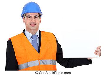 építészmérnök, poster., átnyújtás