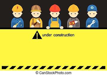 építő, kézműves, munkás, aláír