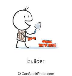 építő, munkás