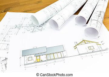 épület ábra, építészeti, hengermű