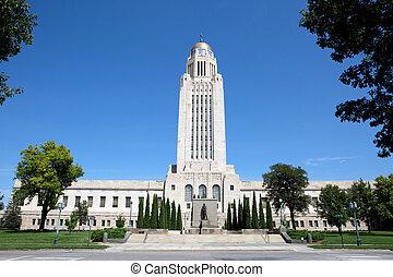 épület, állam, nebraska, kongresszus székháza washingtonban