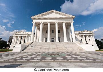 épület, állam, virginia capitol