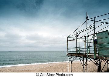 épület, átmeneti, tenger