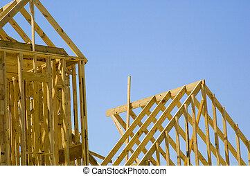 épület, építés alatt