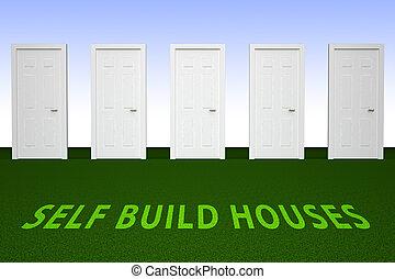 épület, épület, maga, -, ábra, magad, kapualj, szerkesztés, épít, előad, 3