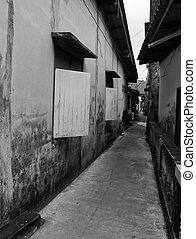 épület, öreg, thaiföld