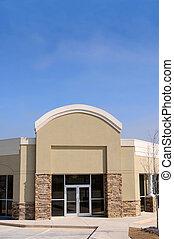 épület, új, kereskedelmi