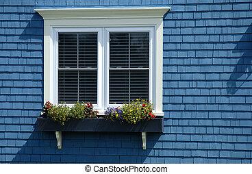 épület, ablak