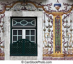 épület, alatt, lisszabon