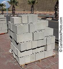 épület, beton- gátol