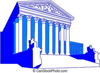 épület, döntő bíróság, bennünket
