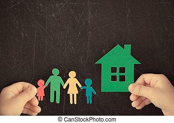 épület, dolgozat, család, kézbesít