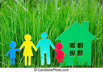 épület, dolgozat, család