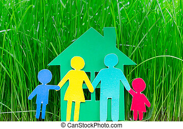 épület, dolgozat, fű család