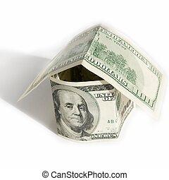 épület, dollár