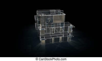 épület, drót