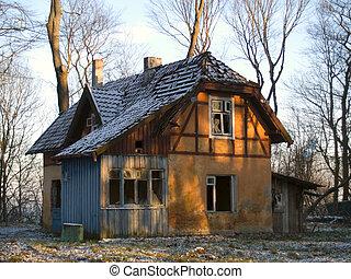 épület, elhagyatott