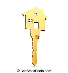 épület, elszigetelt, kulcs