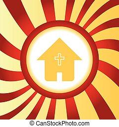 épület, elvont, keresztény, ikon