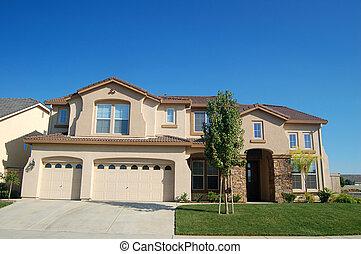 épület, felmérni, kalifornia