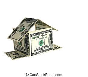 épület, fogalom, dollár