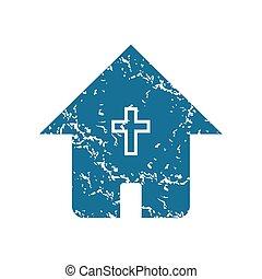 épület, grunge, keresztény, ikon
