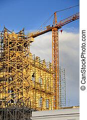 épület, havanna, öreg, restaurálás