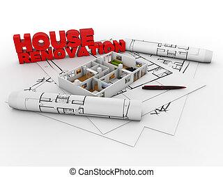 épület, helyreállítás