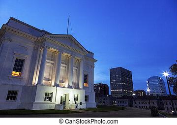 épület, helyzet capitol, virginia