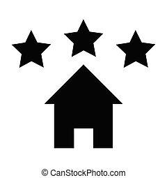épület icon, csillag cégtábla