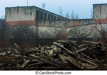 épület, ipari, külső