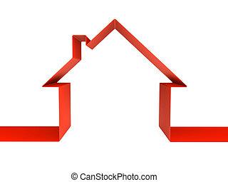 épület, jelkép, -, elszigetelt, vakolás, zöld white, 3