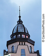 épület, kék ég, kupola, ellen
