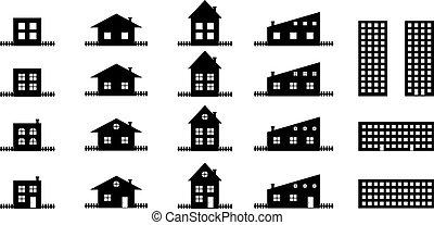 épület, körvonal, gyűjtés