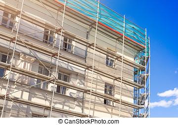 épület külső, noha, vérpad, -, öreg város, épület arculat,...