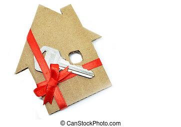 épület, kartonpapír