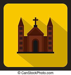 épület, katolikus, mód, keresztény, lakás, templom, ikon