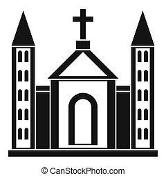 épület, katolikus, templom, keresztény, ikon