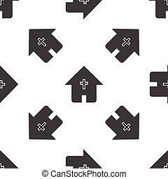 épület, keresztény, motívum