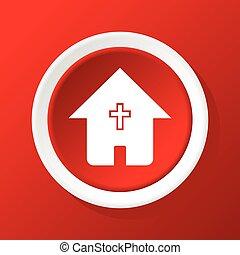 épület, keresztény, piros, ikon