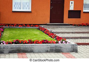 épület, kert