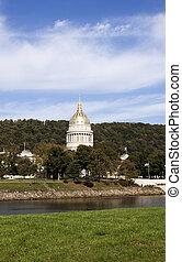 épület, kongresszus székháza washingtonban, nyugat, -, virginia, állam, charleston