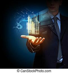 épület, mérnök-tudomány, tervezés, automatizálás