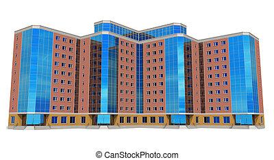 épület, magas, modern ügy