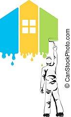 épület munka, szobafestő