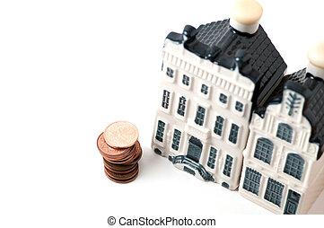 épület, pennies