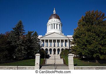 épület, statehouse, maine capitol