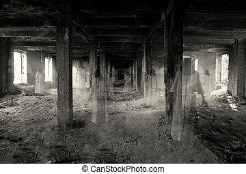 épület, szellem